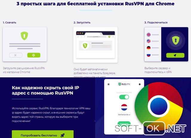Расширение RusVPN для Google Chrome