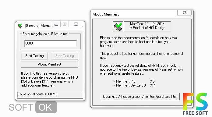 MemTest скачать бесплатно на русском для Windows 10, 7, 8