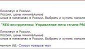 """Скриншот №2 """"Управление SEO тегами"""""""