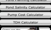 """Скриншот №1 """"Pond Calculators"""""""