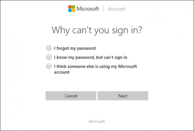 Распространенные ошибки доступа в систему Microsoft