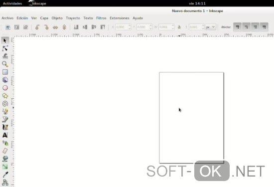 Интерфейс inkScape для Ubuntu