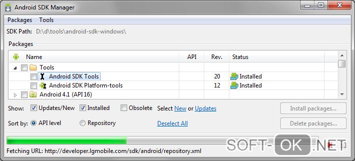 Android sdk tools для windows 7 скачать