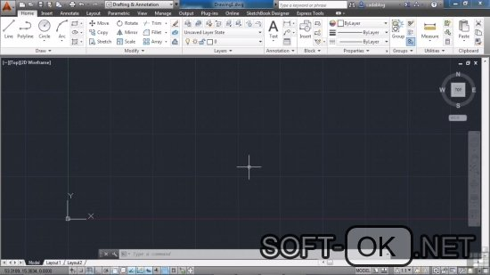 Открываем .dwg файл при помощи AutoCAD 2014