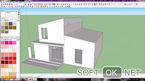 Создаем макет и жилой массив в приложении SketchUp Make