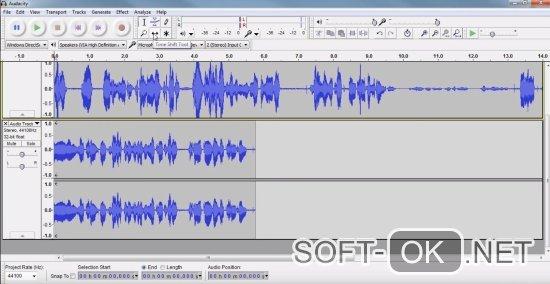 Процесс обработки аудио-дорожек в Audacity