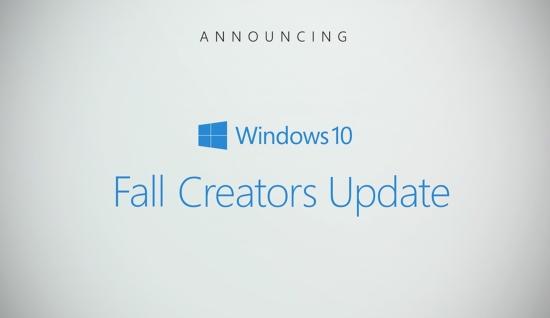 Fall Creators Update выходит для Windows 10
