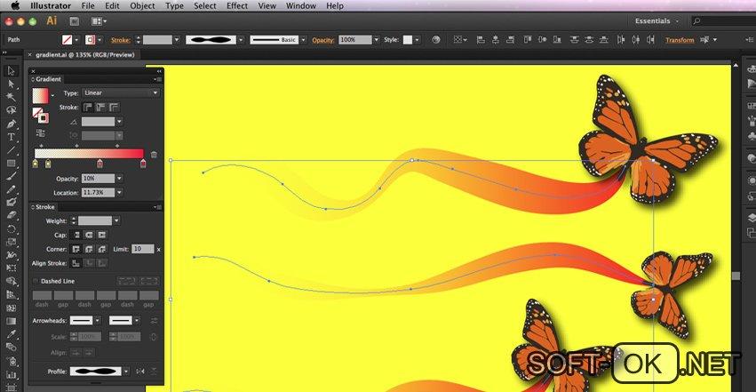 Adobe Illustrator CS6 позволяет работать с ai файлами на MacOS