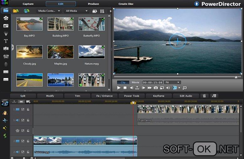 CyberLink PowerDirector используется для открытия видео файлов формата dat