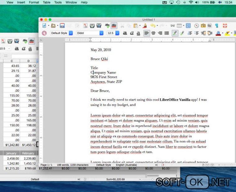 LibreOffice на Mac используется для открытия .doc файлов