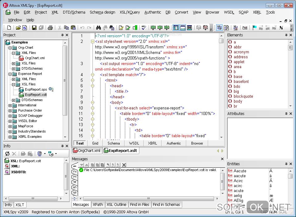 Altova XMLSpy прекрасно открывает файлы .xml