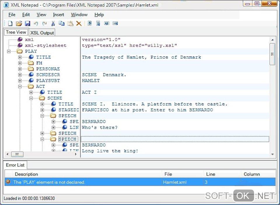 Microsoft XML Notepad используется для открытия файлов формата .xml