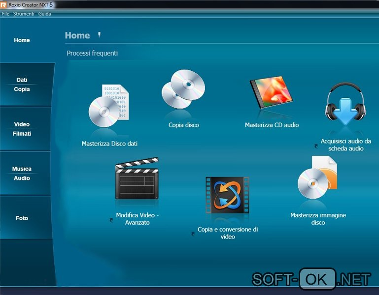 Roxio Creator NXT Pro 5 открывает файл .iso