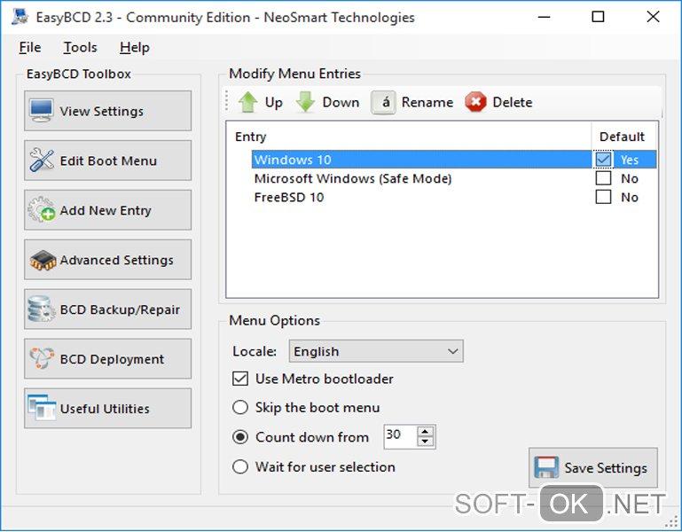 Открытие .iso файла с помощью NeoSmart Technologies EasyBCD