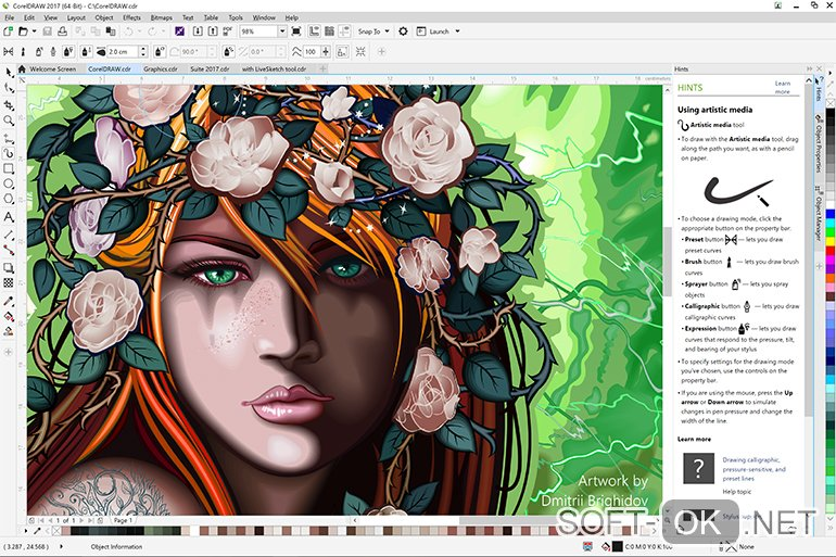 CorelDRAW Graphics Suite 2017 поможет открыть файл .cdr