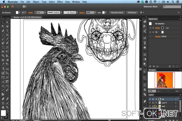 Adobe Illustrator CC поможет открыть .cdr файл на Mac