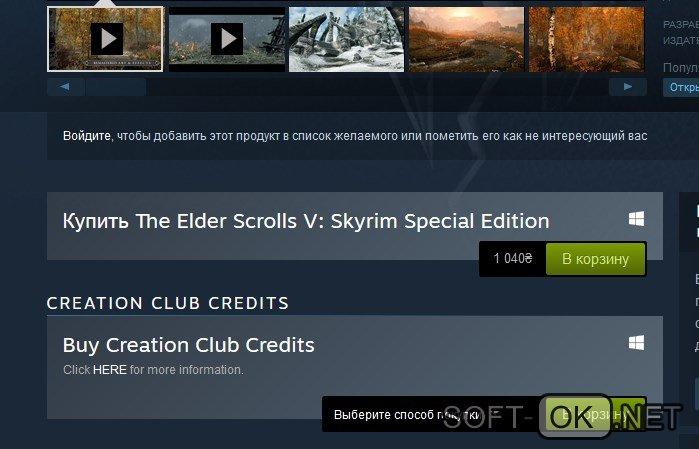 Покупка лицензионной игры Skyrim