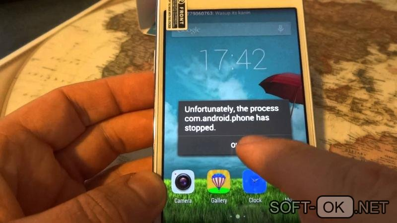 Причины возникновения ошибки com android phone