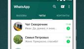 """Скриншот №1 """"WhatsApp Messenger"""""""