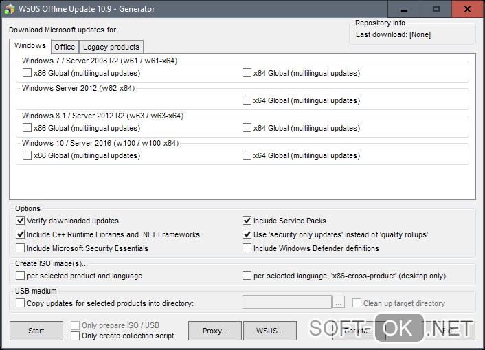 Wsus offline update для обновления Windows 10