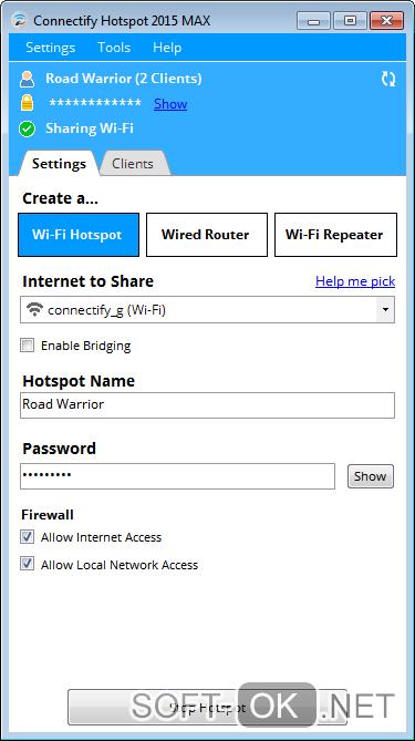 Раздача Wi-fi сети с помощью Connectify
