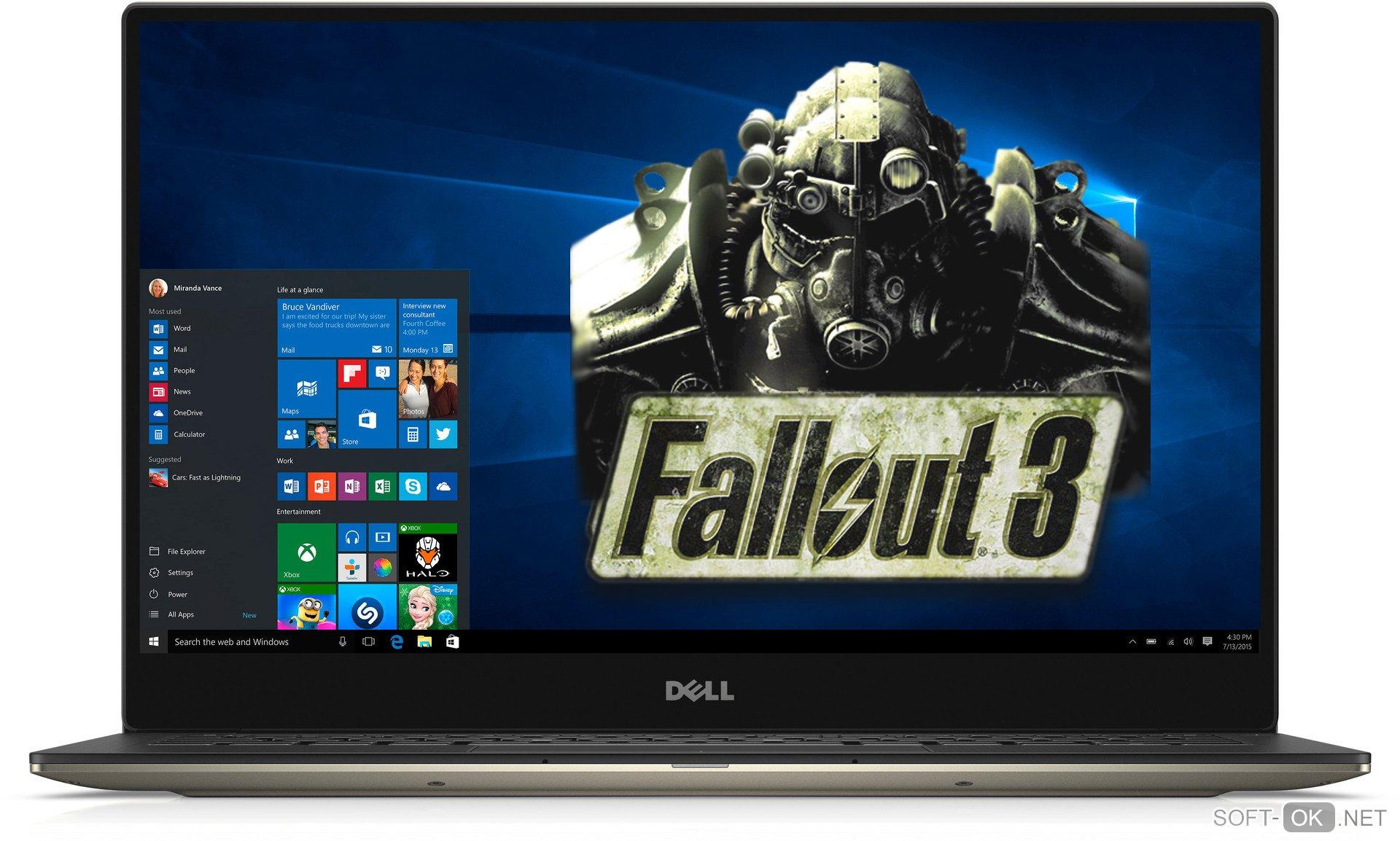 Запуск Fallout 3 на Windows 10