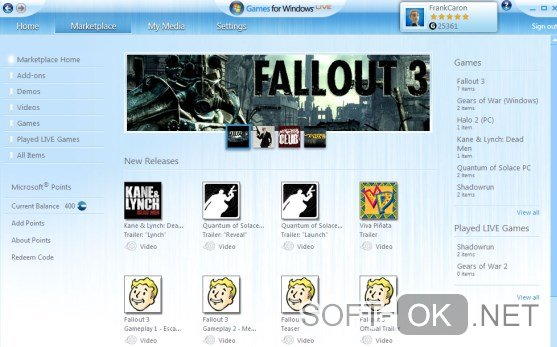 Games for Windows Live для Fallout 3