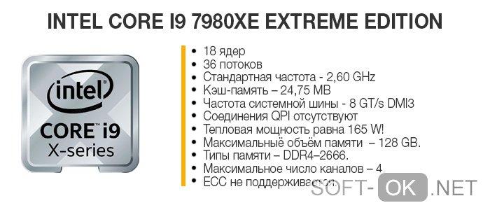 Характеристики Intel Core i9 7980 XE