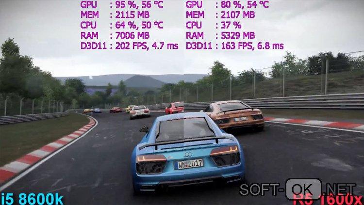 Сравнение процессора Ryzen 5 1600x и Intel i5 8600K