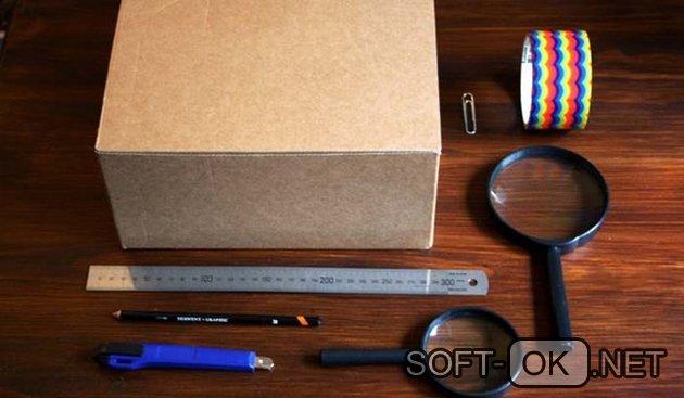 Детали и материалы для сборки проектора своими руками