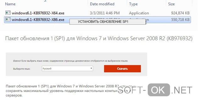 Установка автономного пакета с помощью исполняемого файла-установщика