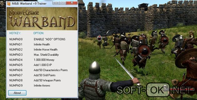 Варианты читов Mount and Blade Warband